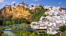 פוטו עיירות על הר באירופה אקרוס דה לה פרונטרה ספרד, צילום: שאטרסטוק