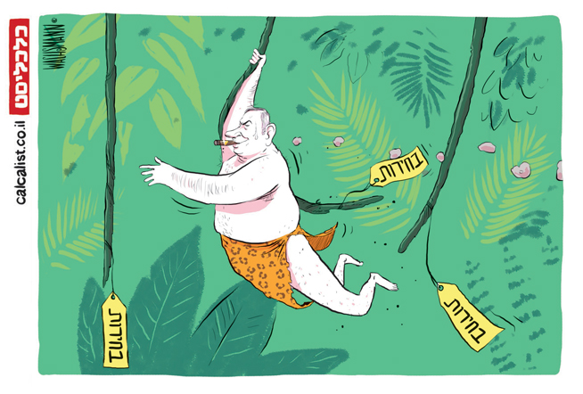 קריקטורה 8.12.19, איור: יונתן וקסמן