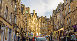 פוטו הרחובות היפים בעולם רחוב קוקבורן אדינבורו סקוטלנד , צילום: שאטרסטוק