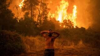 פוטו משבר האקלים שריפות יוון, צילום: גטי
