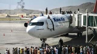 פוטו אפגניסטן טאליבן שדה תעופה מטוס, צילום: AFP