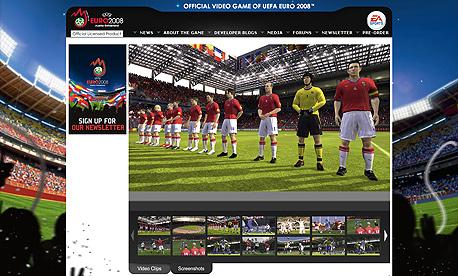 UEFA EURO 2008, צילום מסך: www.us.euro2008game.ea.com