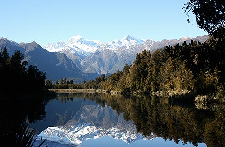 נוף טיפוסי בניו זילנד. מרוחקת גאוגרפית מקונפליקטים