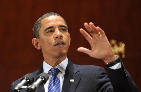"""ברק אובמה נשיא ארה""""ב, צילום: בלומברג"""