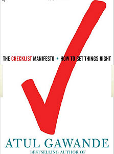 "הספר ""The Checklist Manifesto"""