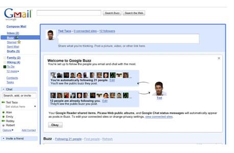 "Google Buzz. ""שיתוף בשיטת גוגל"""