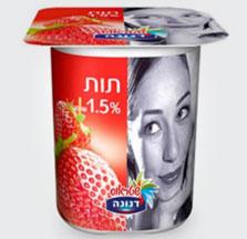 מה יש בפנים: יוגורט דנונה תות 1.5%