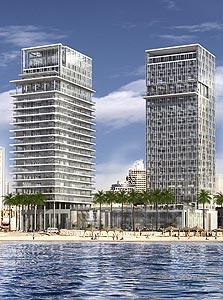 הדמיית שני מגדלים שייבנה הנרי טייק