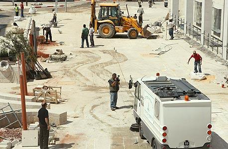 עבודות בנייה בקניון עזריאלי