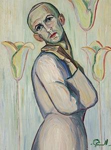 """""""דיוקן עצמי"""", משה מוקדי, 1923. מהראשונים שעסקו במגדר באמנות הישראלית"""