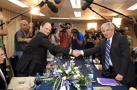 """טורבוביץ עם דוד ליבאי, במו""""מ הקואליציוני בן קדימה והעבודה"""
