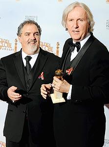 לנדאו וקמרון עם גלובוס הזהב, צילום: אי פי אי