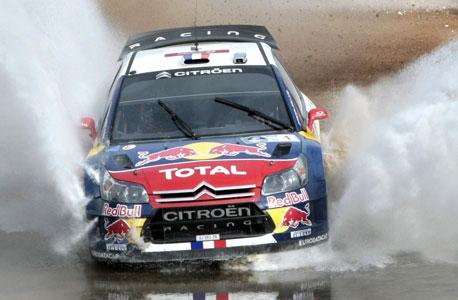 סיטרואן C4 בגרסת WRC, במירוץ שטח במקסיקו בשבוע שעבר. גם לישראל יש פוטנציאל למירוצים בינלאומיים, צילום: רויטרס