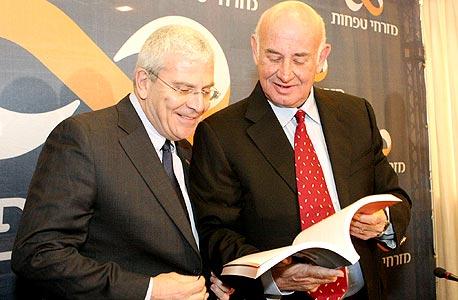יעקב פרי ו אלי יונס בנק מזרחי, צילום: יוני רייף