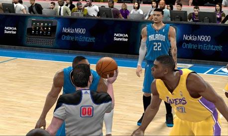 משחק כדורסל במחשב. השופטת קבעה שהשתמשו בדמויות השחקנים
