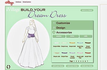 עיצוב שמלת כלה  ב-ivillage