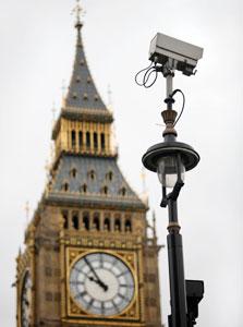 אחת ממיליוני מצלמות האבטחה שמרשתות את לונדון