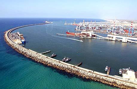 צילום אווירי של נמל אשדוד