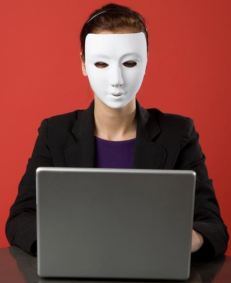 אנונימיות ברשת, צילום: shutterstock