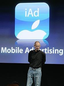 סטיב ג'ובס מציג את iAd - פלטפורמת הפרסום של אפל לסלולר