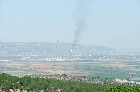זיהום אוויר ממפעל כרמל אולפינים במפרץ חיפה ב-2016
