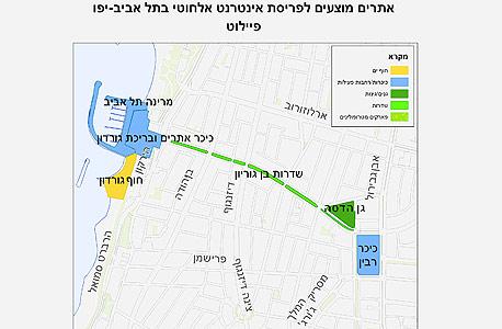 הפיילוט הראשוני לכיסוי אלחוטי בתל אביב