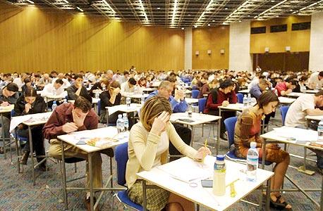 """בחינות ההסמכה של לשכת עוה""""ד. 2,800 נבחנים, צילום: bar exam"""