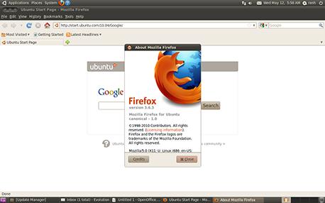 פיירפוקס 3.6 באובונטו