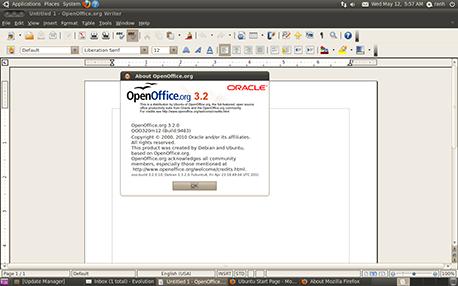 אופן אופיס 3.2 באובונטו