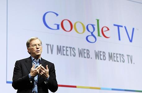 """אריק שמידט, מנכ""""ל גוגל, בהשקת גוגל TV"""