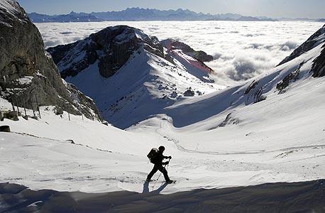 סקי באזור הר פילאטוס בשוויץ