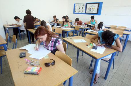 נבחנים בבגרות במתמטיקה (למצולמים אין קשר לכתבה), צילום: אלעד גרשגורן