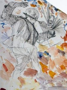 """""""הצייר המרקד"""" של אדולף מנזל"""