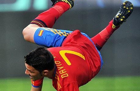 """דויד ויאה. . """"הטורניר הזה היה מעלה את השווי שלו ב-18 מיליון יורו"""", צילום: איי אף פי"""