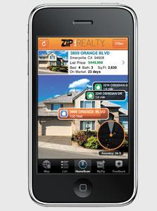 אפליקציית ZipRealty. קבלת מידע על נכסים במציאות רבודה