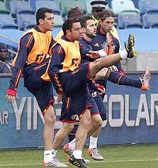 נבחרת ספרד. כדורגל משחקים עם המוח
