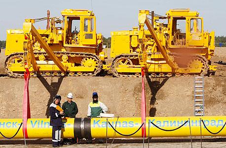 צינור יצוא של חברת גזפרום הרוסית. 75% מהנפט הגולמי בעולם מופק בידי חברות ממשלתיות