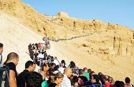 Tourists at Masada National Park in southern Israel. Photo: Eran Yoran