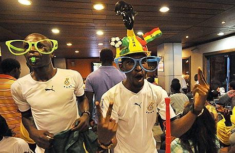 אוהדי גאנה. כבר לא מאושרים , צילום: איי אף פי
