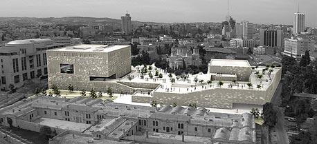 """הדמיה של הבניין החדש שעתיד לקום במגרש הרוסים. """"למשוך צעירים לגור ולהישאר"""""""