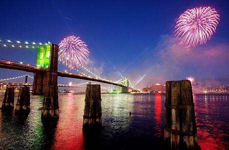Fireworks over New York City. Photo: API