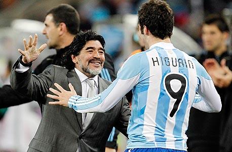 מראדונה כמאמן נבחרת ארגנטינה, צילום: אי פי אי