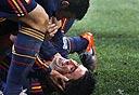 שחקני ספרד חוגגים. אפקטיביים, צילום: אי פי אי