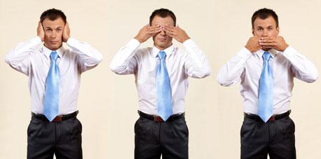 כשאירגונים אינם מודעים לטעויות הם אינם יכולים ללמוד מהן, צילום: shutterstock