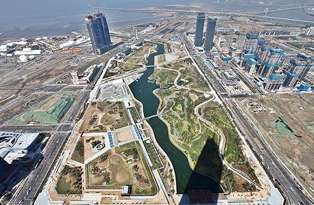 """צילום של העיר """"סונגדו"""" שנבנית בימים אלה בדרום קוריאה"""