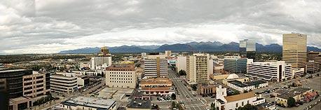 העיר אנקורג' באלסקה, שבה הורגשה רעידת האדמה