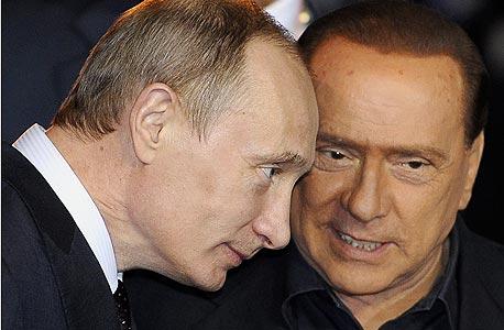 ברלוסקוני הדהים: פוטין רוצה שאהיה שר ברוסיה