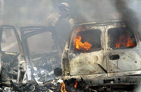 רכב שרוף כתוצאה מפעילות של אנשי בלקווטר
