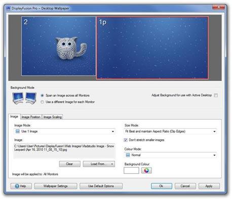 DisplayFusion, צילום מסך