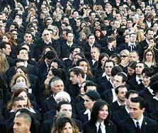 טקס הסמכה של עורכי דין. יותר מדי, צילום: אלכס קולומויסקי
